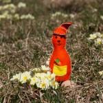 Filzhase in orange