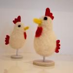 Zwei Filzhühner